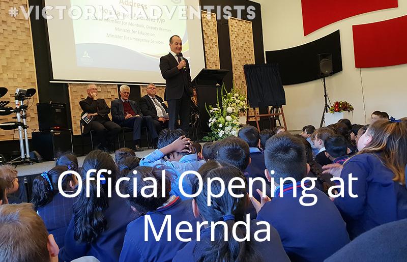 Gilson Mernda opened new secondary classroom and library block